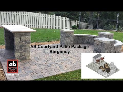AB Courtyard Patio Package Burgundy