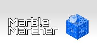 유리공을 곰팡이 위에 굴려서 골인시키는 게임 - Marble Marcher - 매드