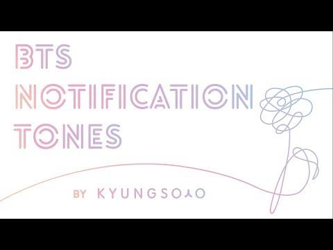BTS (방탄소년단) 2016-2017 MESSAGE TONES (메시지 벨소리) with download links