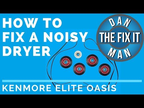 HOW TO FIX A NOISY DRYER - DIY (Replacing the Idler Pulley and Roller Wheels) - Kenmore Elite Oasis