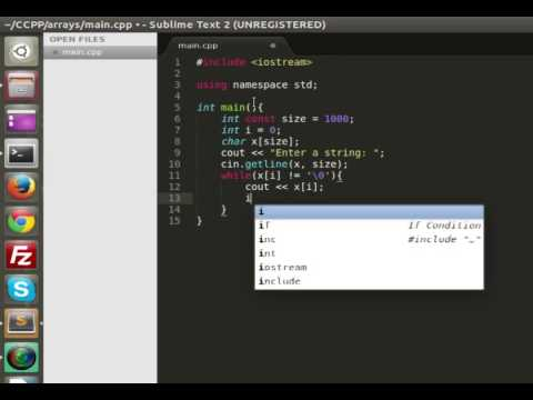 Storing a string into an array C++
