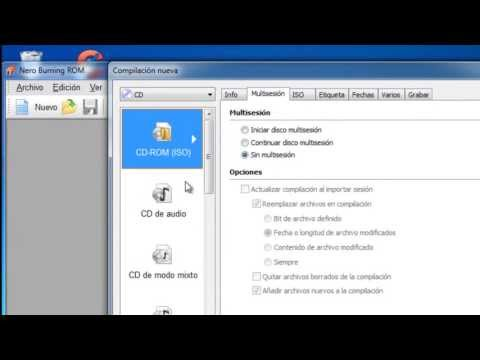 COMO GRABAR UN VIDEO EN UN CD CON NERO BURNING ROM 7