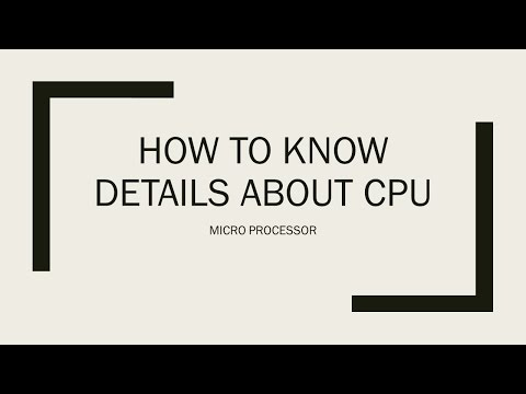 HOW TO KNOW DETAILS ABOUT CPU VIA CMD