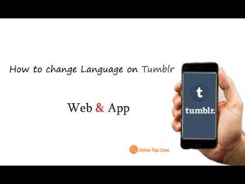 how to change language on tumblr