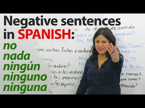 Learn Spanish Grammar: Double Negatives in Spanish – No, Nada, Niguno, Ninguna, Nadie & more