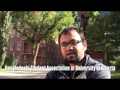 University of Alberta students: Tanvir, Sayeed, and Aziz from Bangladesh