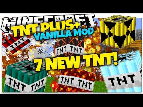 Minecraft | TNT+ Mod | Nukes, Age Bombs, Frozen TNT | Only One Command (Minecraft Vanilla Mods)