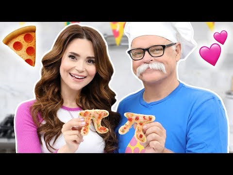 HOW TO MAKE PIZZA PI PIES w/my Dad! - NERDY NUMMIES