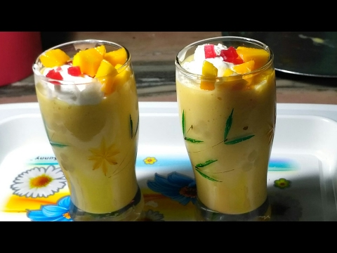 Mango Milk Shake With Vanila Ice Cream