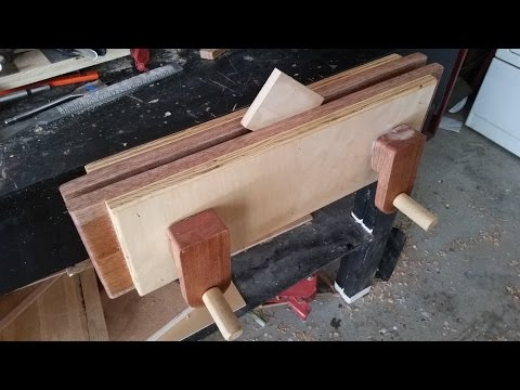 How to make a Moxon Vise, Woodworking vise, cheap to make