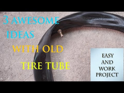 3 awesome ideas with old tyre tube