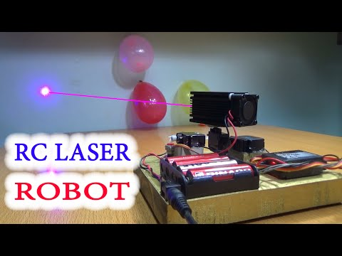 DIY - Homemade Laser ROBOT Remote Controlled