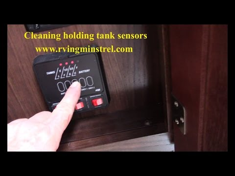 How to clean holding tank sensors