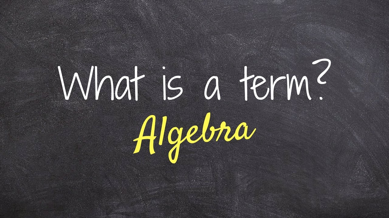 What is a term in Algebra?