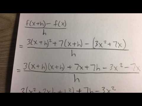 Finding the Difference Quotient of a Polynomial Function (Example)