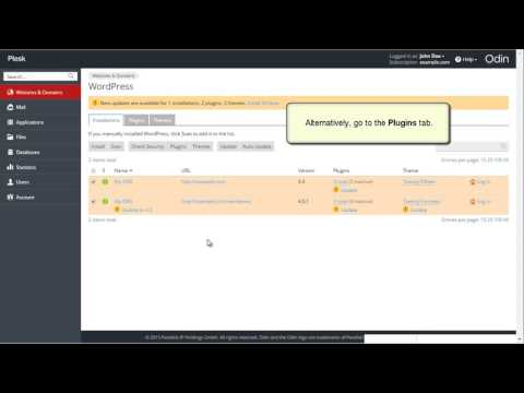 Plesk 12.5 Tutorials - How to use the WordPress toolkit