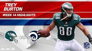 Philly TE Trey Burton Hauls in 2 TDs vs. LA! | Eagles vs. Rams | Wk 14 Player Highlights