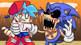 BOYFRIEND vs. SONIC.EXE?!  Friday Night Funkin' Logic | Cartoon Animation