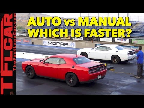 What's Faster an Automatic or Manual Hellcat?  Watch This Drag Race to Find Out