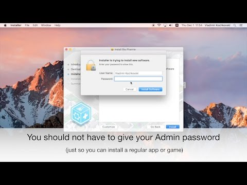 Install .PKG without Admin password (macOS)