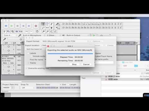 Split 8 channel WAV file to Individual Tracks Free on Mac