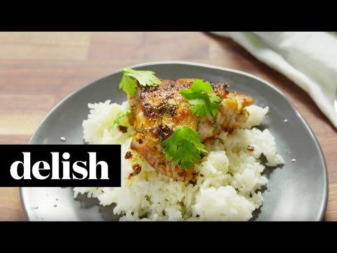 How To Make Cilantro Lime Chicken & Rice | Delish