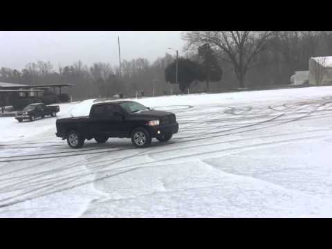 Some more fun in the snow/ice!!  4x4 trucks