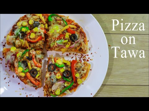 Veg Pizza on Tawa | Pizza Recipe In Hindi Without Yeast