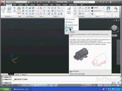 AutoCAD 3D - Menus & Ribbon Bar Overview - for versions 2009, 2010, 2011, 2012, 2013 & 2014