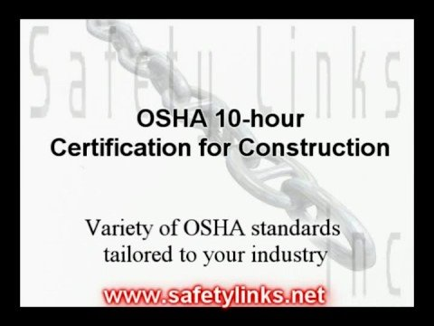 OSHA 10-hour Certification for Construction