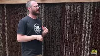 Cooling a Greenhouse with a Cooling Wall