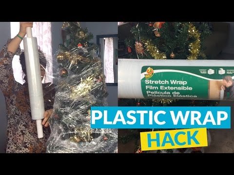 Plastic Wrap Christmas Tree Storage