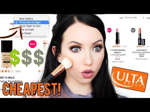 USING THE CHEAPEST LOWEST PRICED MAKEUP ON ULTA! Full Face Everything under $4!