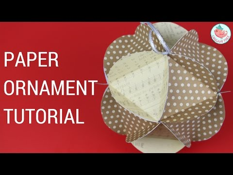 Christmas Crafts - Paper Ball Ornaments - Easy Paper Craft Tutorial (Triangle in Circle Pieces)
