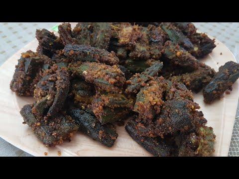 Bharwa bhindi   stuffed bhindi recepie  besan stuffed bhindi
