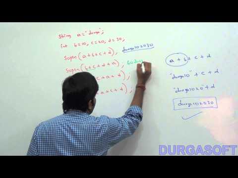 Java operators:  String Concatenation operator
