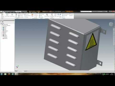 Inventor 2012 sheet metal punch tutorial