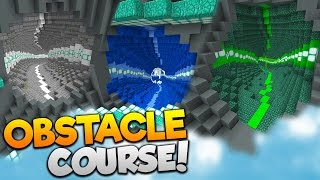 Minecraft FLYING OBSTACLE COURSE!   (17 LEVELS OF ELYTRA FUN!)