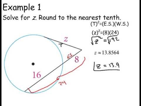 Circle segments III (Tangent-secant theorem)