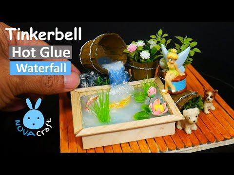 Hot Glue Waterfall Tutorial Tinkerbell KOI Ponds | Hot Glue DIY Life Hacks for Crafting Art #015