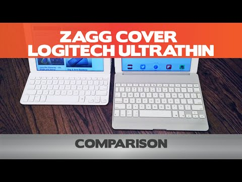 Zagg Cover vs Logitech Ultrathin - iPad Air Keyboard Case Comparison