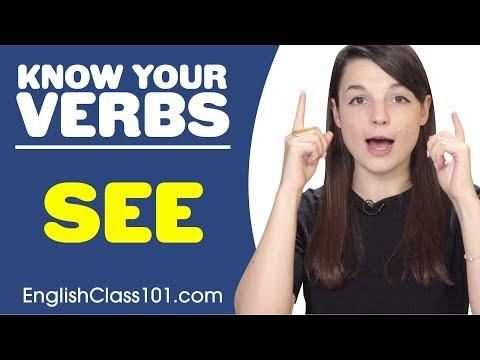 SEE - Basic Verbs - Learn English Grammar