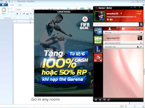 How to fix on garena lan game icon