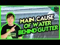 Main Causes of water getting behind the gutter causing fascia board damage