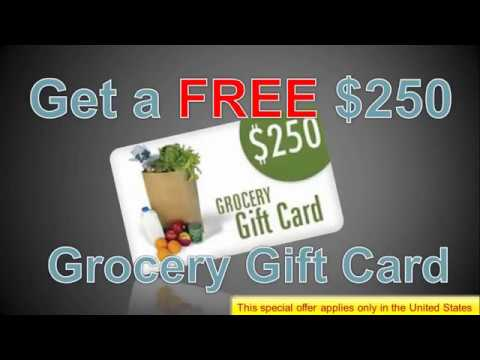 Grocery Gift Card   Get You $250 Grocery Gift Card Free