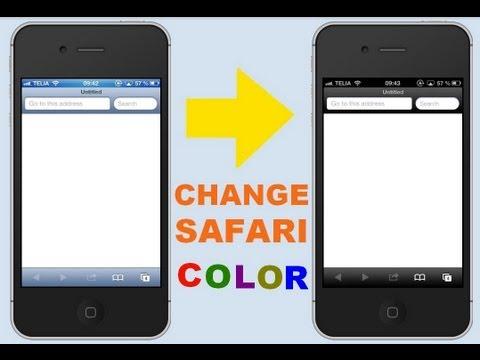 iPhone Tutorial: change to black safari color [No jailbreak required]