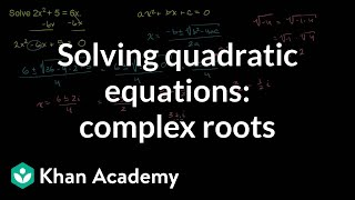 Example: Complex roots for a quadratic | Algebra II | Khan Academy