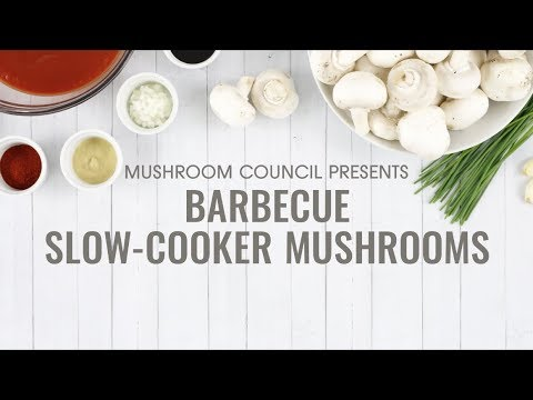Barbecue Slow-Cooker Mushrooms