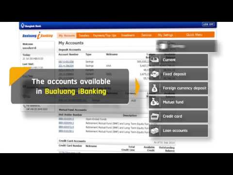Check balance and account activity anytime anywhere - Bualuang iBanking