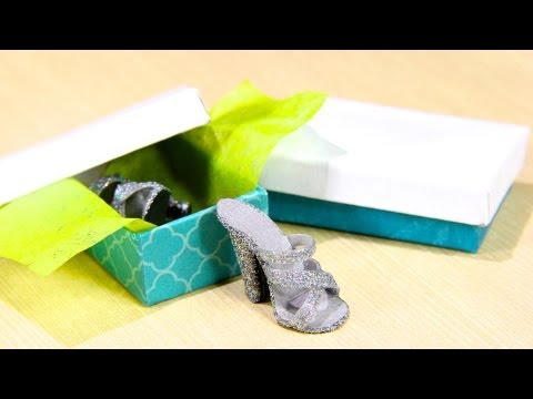 How to Make a Doll Shoebox and Tissue Box - Doll Crafts